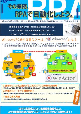 純国産RPAツール WinActor